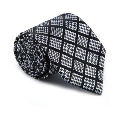 New Fashion Fine Men Tie Unique Houndstooth in Plaid Design Comforty Lattice Business Necktie Accessory