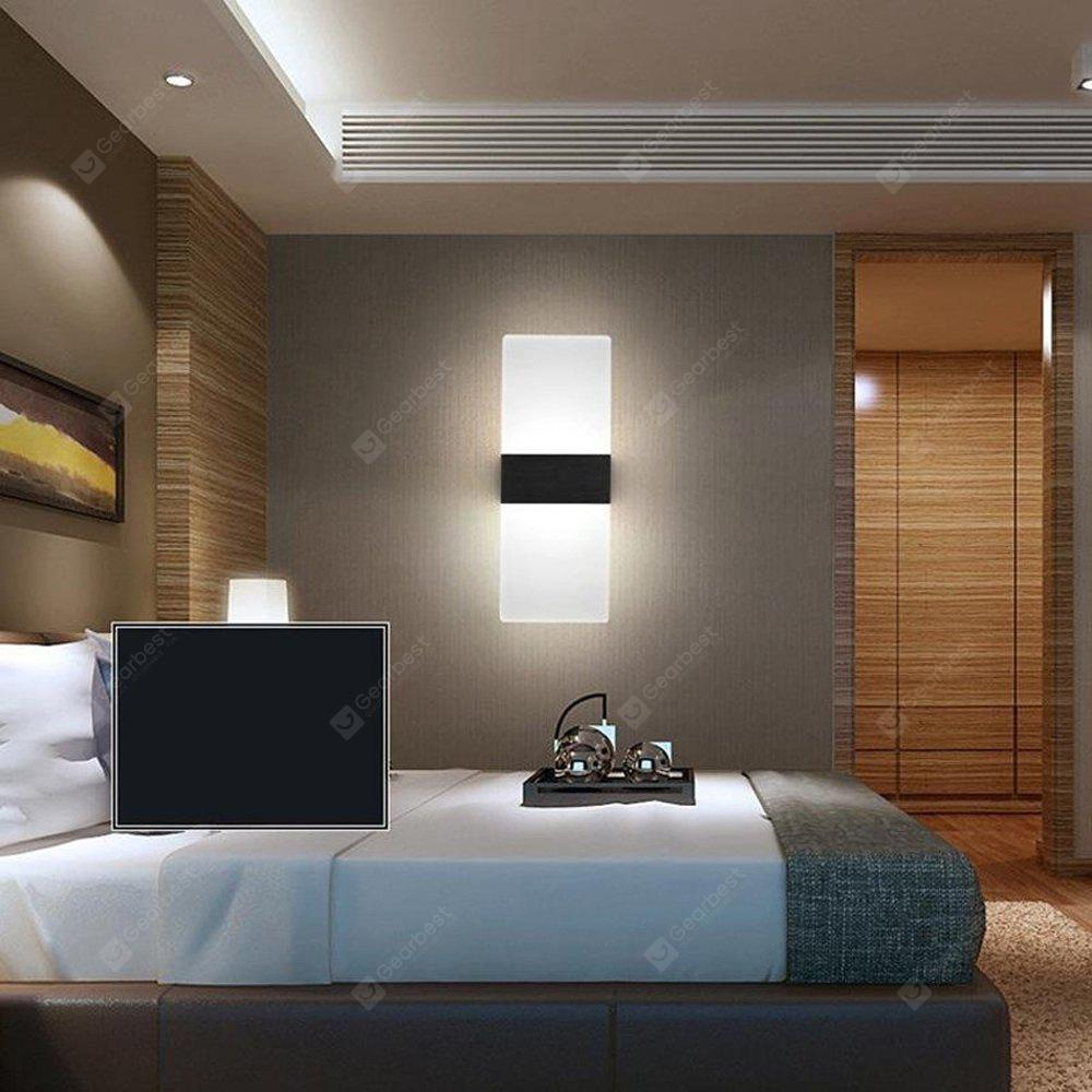 Modern led acryl wall lamp 8w bedroom bedside light foyer study modern led acryl wall lamp 8w bedroom bedside light foyer study decoration sconce mozeypictures Image collections