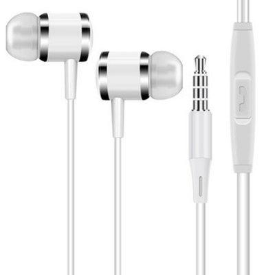 In Ear Earphones Wired Metal Earbuds Cancelamento de ruído Heavy Bass 3.5mm Stereo In-Ear Headphones with Mic for Cellphone