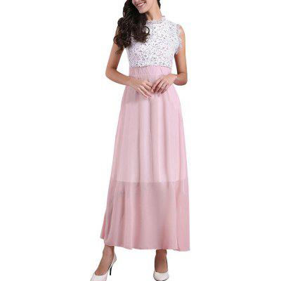 Women Sleeveless Lace Chiffon DressBodycon Dresses<br>Women Sleeveless Lace Chiffon Dress<br><br>Dresses Length: Floor-Length<br>Elasticity: Elastic<br>Fabric Type: Chiffon<br>Material: Lace<br>Neckline: Round Collar<br>Package Contents: 1XDress<br>Pattern Type: Solid<br>Season: Summer<br>Silhouette: A-Line<br>Sleeve Length: Sleeveless<br>Style: Bohemian<br>Waist: Natural<br>Weight: 0.3000kg<br>With Belt: No
