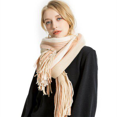 M1750 Pinstripe Color Long Scarf