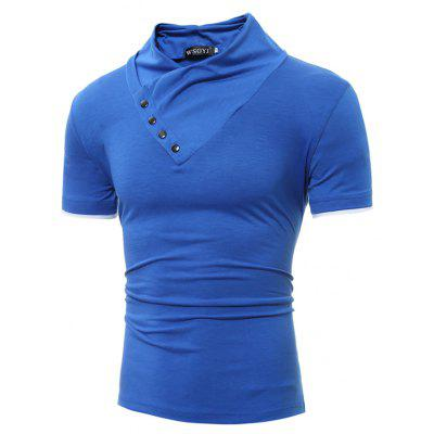 Skew Collar Repair T-ShirtMens Short Sleeve Tees<br>Skew Collar Repair T-Shirt<br><br>Collar: Round Neck<br>Material: Cotton, Polyester<br>Package Contents: 1 x T-shirt<br>Pattern Type: Others<br>Sleeve Length: Short Sleeves<br>Style: Casual<br>Weight: 0.2500kg