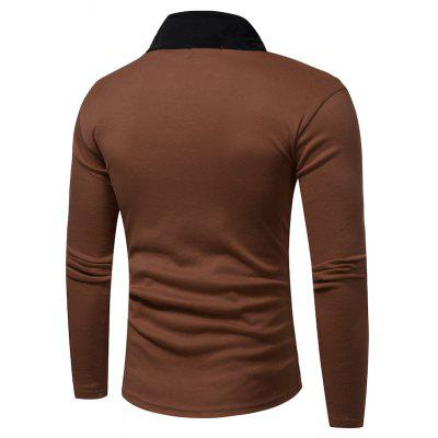 Fashion Color Long Sleeved T-ShirtMens Long Sleeves Tees<br>Fashion Color Long Sleeved T-Shirt<br><br>Collar: Turtleneck<br>Material: Cotton, Polyester<br>Package Contents: 1 x T-shirt<br>Pattern Type: Others<br>Sleeve Length: Full<br>Style: Casual<br>Weight: 0.2500kg
