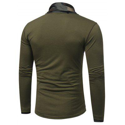Fashion Camouflage Collar Long Sleeved T-ShirtMens Long Sleeves Tees<br>Fashion Camouflage Collar Long Sleeved T-Shirt<br><br>Collar: Stand-Up Collar<br>Material: Cotton, Polyester<br>Package Contents: 1 x T-shirt<br>Pattern Type: Others<br>Sleeve Length: Full<br>Style: Casual<br>Weight: 0.2500kg