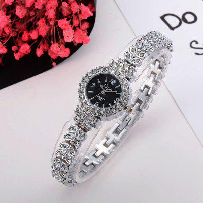 DS029 Women Diamond Bracelet Wrist WatchWomens Watches<br>DS029 Women Diamond Bracelet Wrist Watch<br><br>Band material: Zinc Alloy<br>Band size: 20 x 0.8 CM<br>Case material: Alloy<br>Clasp type: Sheet folding clasp<br>Dial size: 2.2 x 2.2 x 0.7 CM<br>Display type: Analog<br>Movement type: Quartz watch<br>Package Contents: 1 x Watch<br>Package size (L x W x H): 20.00 x 4.00 x 1.00 cm / 7.87 x 1.57 x 0.39 inches<br>Package weight: 0.0350 kg<br>Product size (L x W x H): 20.00 x 2.20 x 0.70 cm / 7.87 x 0.87 x 0.28 inches<br>Product weight: 0.0330 kg<br>Shape of the dial: Round<br>Special features: Day<br>Watch mirror: Mineral glass<br>Watch style: Fashion, Business, Retro, Lovely, Wristband Style, Jewellery, Casual<br>Watches categories: Women,Female table<br>Water resistance: No