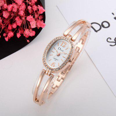 DS035 Women Simple Diamond Bezel Metal Bangle Bracelet Wrist WatchWomens Watches<br>DS035 Women Simple Diamond Bezel Metal Bangle Bracelet Wrist Watch<br><br>Band material: Zinc Alloy<br>Band size: 19 x 0.9 CM<br>Case material: Alloy<br>Clasp type: Sheet folding clasp<br>Dial size: 2 x 2.5 x 0.9 CM<br>Display type: Analog<br>Movement type: Quartz watch<br>Package Contents: 1 x Watch<br>Package size (L x W x H): 20.00 x 4.00 x 1.00 cm / 7.87 x 1.57 x 0.39 inches<br>Package weight: 0.0330 kg<br>Product size (L x W x H): 19.00 x 2.00 x 0.90 cm / 7.48 x 0.79 x 0.35 inches<br>Product weight: 0.0310 kg<br>Shape of the dial: Elliptical<br>Special features: Day<br>Watch mirror: Mineral glass<br>Watch style: Fashion, Business, Retro, Lovely, Wristband Style, Jewellery, Casual<br>Watches categories: Women,Female table<br>Water resistance: No