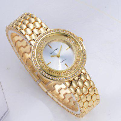 DP003 Women Fashion Crystal Accent Bezel Wrist WatchWomens Watches<br>DP003 Women Fashion Crystal Accent Bezel Wrist Watch<br><br>Band material: Zinc Alloy<br>Band size: 21 x 1.6 CM<br>Case material: Alloy<br>Clasp type: Sheet folding clasp<br>Dial size: 3.5 x 3.5 x 1 CM<br>Display type: Analog<br>Movement type: Quartz watch<br>Package Contents: 1 x Watch<br>Package size (L x W x H): 24.00 x 4.50 x 1.00 cm / 9.45 x 1.77 x 0.39 inches<br>Package weight: 0.0770 kg<br>Product size (L x W x H): 21.00 x 3.50 x 1.00 cm / 8.27 x 1.38 x 0.39 inches<br>Product weight: 0.0750 kg<br>Shape of the dial: Round<br>Special features: Day<br>Watch mirror: Mineral glass<br>Watch style: Fashion, Business, Retro, Lovely, Wristband Style, Jewellery, Casual<br>Watches categories: Women,Female table<br>Water resistance: Life water resistant