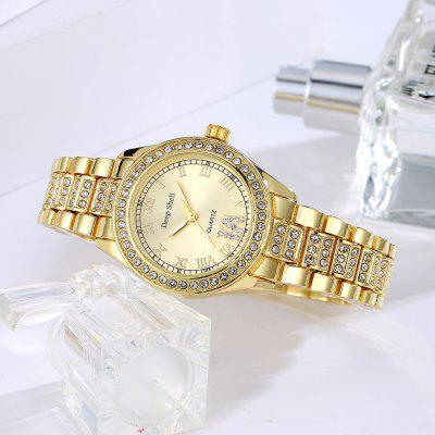 DP007 Women Alloy Band Roman Numeral Wrist WatchWomens Watches<br>DP007 Women Alloy Band Roman Numeral Wrist Watch<br><br>Band material: Zinc Alloy<br>Band size: 20 x 1.5 CM<br>Case material: Alloy<br>Clasp type: Sheet folding clasp<br>Dial size: 3.2 x 3.2 x 0.9 CM<br>Display type: Analog<br>Movement type: Quartz watch<br>Package Contents: 1 x Watch<br>Package size (L x W x H): 24.00 x 4.50 x 1.00 cm / 9.45 x 1.77 x 0.39 inches<br>Package weight: 0.0660 kg<br>Product size (L x W x H): 20.00 x 3.20 x 0.90 cm / 7.87 x 1.26 x 0.35 inches<br>Product weight: 0.0640 kg<br>Shape of the dial: Round<br>Special features: Day<br>Watch mirror: Mineral glass<br>Watch style: Fashion, Business, Retro, Lovely, Wristband Style, Jewellery, Casual<br>Watches categories: Women,Female table<br>Water resistance: Life water resistant