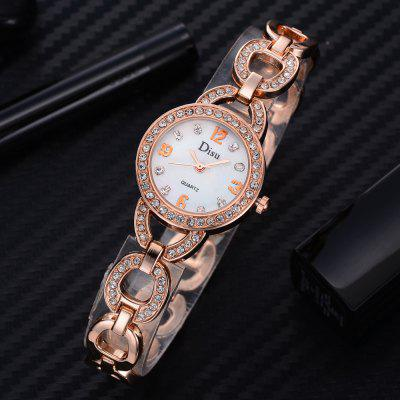 DS046 Women Metal Diamond Jewelry Wrist WatchWomens Watches<br>DS046 Women Metal Diamond Jewelry Wrist Watch<br><br>Band material: Zinc Alloy<br>Band size: 20.7 x 1.1 CM<br>Case material: Alloy<br>Clasp type: Sheet folding clasp<br>Dial size: 2.5 x 2.5 x 0.7 CM<br>Display type: Analog<br>Movement type: Quartz watch<br>Package Contents: 1 x Watch<br>Package size (L x W x H): 21.00 x 4.00 x 1.00 cm / 8.27 x 1.57 x 0.39 inches<br>Package weight: 0.0350 kg<br>Product size (L x W x H): 20.70 x 2.50 x 0.70 cm / 8.15 x 0.98 x 0.28 inches<br>Product weight: 0.0320 kg<br>Shape of the dial: Round<br>Special features: Day<br>Watch mirror: Mineral glass<br>Watch style: Fashion, Business, Retro, Lovely, Wristband Style, Jewellery, Casual<br>Watches categories: Women,Female table<br>Water resistance: No