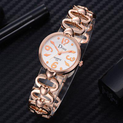 DS048 Women Hearts Quartz Bracelet Wrist WatchWomens Watches<br>DS048 Women Hearts Quartz Bracelet Wrist Watch<br><br>Band material: Zinc Alloy<br>Band size: 18.2 x 1.5 CM<br>Case material: Alloy<br>Clasp type: Sheet folding clasp<br>Dial size: 2.5 x 2.5 x 0.7 CM<br>Display type: Analog<br>Movement type: Quartz watch<br>Package Contents: 1 x Watch<br>Package size (L x W x H): 20.00 x 4.00 x 1.00 cm / 7.87 x 1.57 x 0.39 inches<br>Package weight: 0.0350 kg<br>Product size (L x W x H): 18.20 x 2.50 x 0.70 cm / 7.17 x 0.98 x 0.28 inches<br>Product weight: 0.0320 kg<br>Shape of the dial: Round<br>Special features: Day<br>Watch mirror: Mineral glass<br>Watch style: Fashion, Business, Retro, Lovely, Wristband Style, Jewellery, Casual<br>Watches categories: Women,Female table<br>Water resistance: No