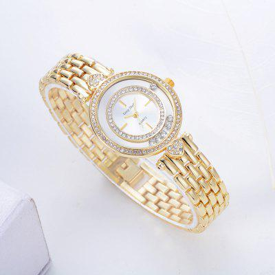 DP009 Women Unique Alloy Band Quartz WatchWomens Watches<br>DP009 Women Unique Alloy Band Quartz Watch<br><br>Band material: Zinc Alloy<br>Band size: 21 x 1.5 CM<br>Case material: Alloy<br>Clasp type: Sheet folding clasp<br>Dial size: 3.2 x 3.2 x 0.7 CM<br>Display type: Analog<br>Movement type: Quartz watch<br>Package Contents: 1 x Watch<br>Package size (L x W x H): 24.00 x 4.50 x 1.00 cm / 9.45 x 1.77 x 0.39 inches<br>Package weight: 0.0600 kg<br>Product size (L x W x H): 21.00 x 3.20 x 0.70 cm / 8.27 x 1.26 x 0.28 inches<br>Product weight: 0.0580 kg<br>Shape of the dial: Round<br>Special features: Day<br>Watch mirror: Mineral glass<br>Watch style: Fashion, Business, Retro, Lovely, Wristband Style, Jewellery, Casual<br>Watches categories: Women,Female table<br>Water resistance: No