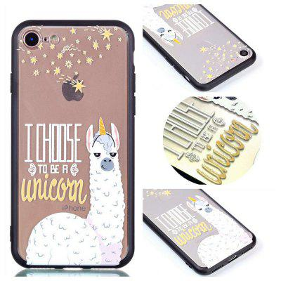 Custodia Cover per Iphone 8 Relievo Alpaca Custodia Cover morbida per smartphone Cover TPU per smartphone