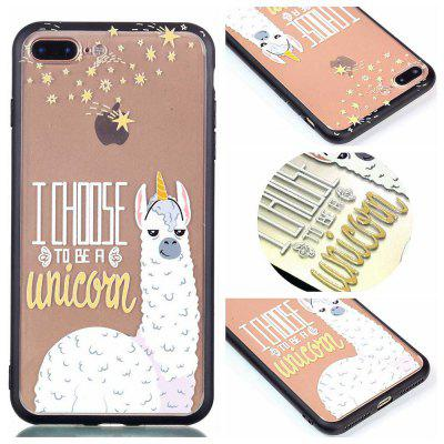 Custodia Cover per Iphone 8 Plus Custodia con cover per smartphone Relievo Alpaca Soft Clear TPU per smartphone
