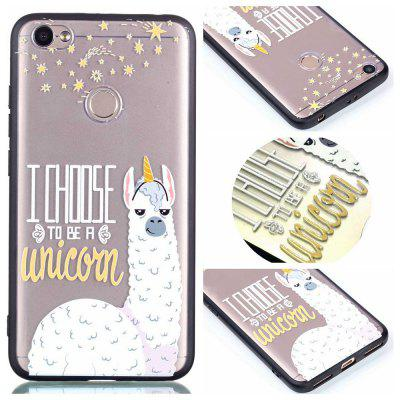 Capa de capa para Redmi Note 5A Relievo Alpaca Soft Clear TPU Mobile Smartphone Cover Shell Case