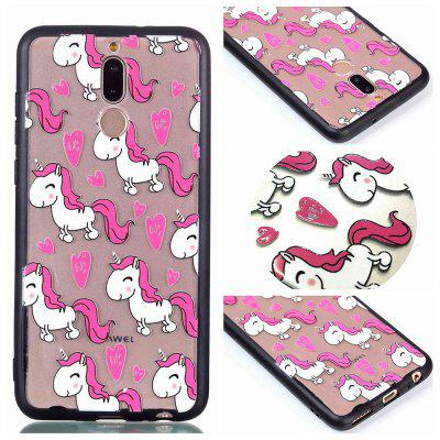 Housse de protection pour Huawei Mate10 Lite Relievo Unicorn Soft Clear TPU Mobile Smartphone Couverture Shell Case