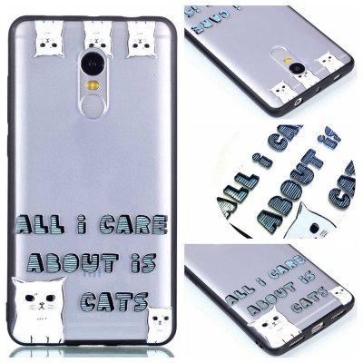 Housse de protection pour Huawei P8 Lite 2017 Relievo Cat Soft Clear TPU Mobile Smartphone Couverture Shell Case