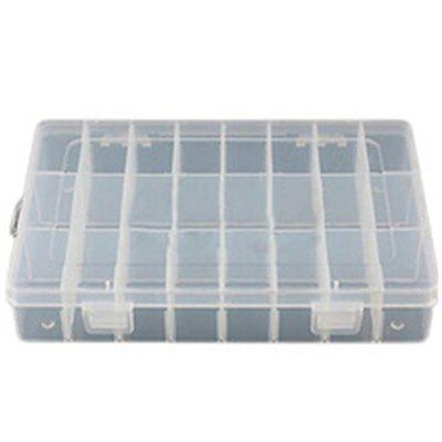 24 Grids Plastic Storage DIY Tool Box Screws Spare Part Jewelry Earring Plastic Case Container