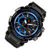 SMAEL 1702 Cool Multi-function Waterproof Electronic Watch - BLACK AND BLUE