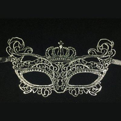 Halloween Party Mask Hot Silver Crown Mask Men and Women Party Personality Lace Masks