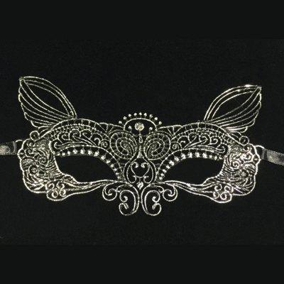 Lace Mask Mysterious Social Party Mask Hot Silver Wizard Mask Simple Goggles