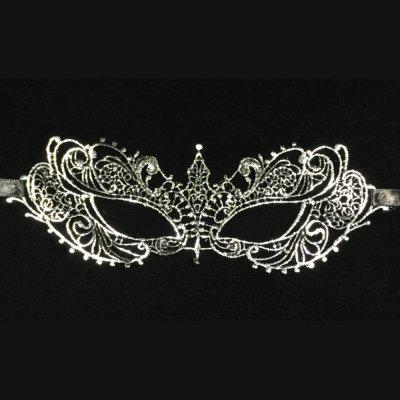 New European and American Sexy Mask Hot Little Silver Pointy Mask Mysterious Social Dance Mask