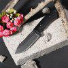 Straight Knife Wild Camp Jungle Wild Survival - Beast - BLACK