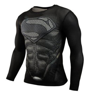 Tight-Fitting Sweat Speed Dry Sports Fitness Long-Sleeved T-Shirt