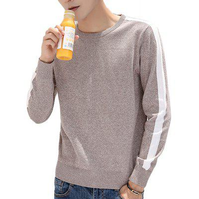 Men's Sweater Color Block All Match Fashion Casual Pullover