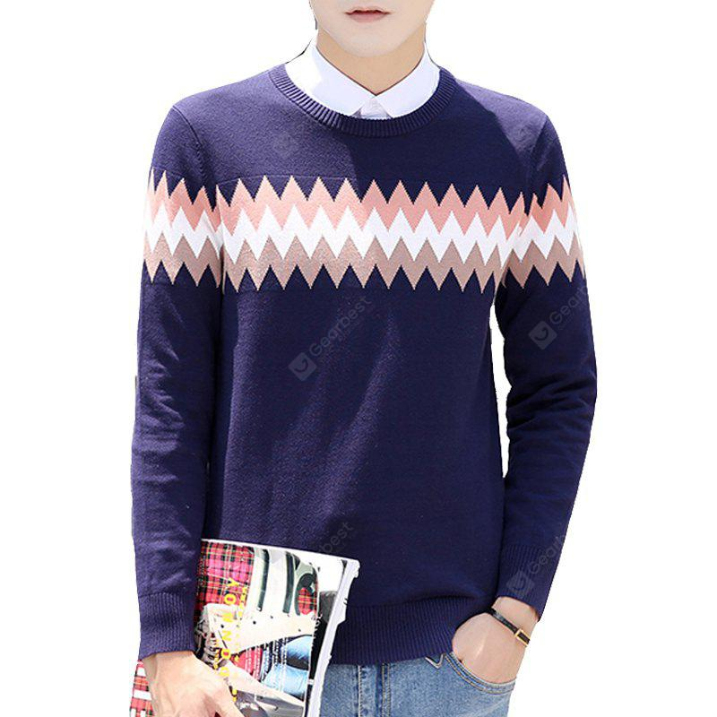 Men's Sweater Stylish All Match Geometric Fashion Casual Pullover