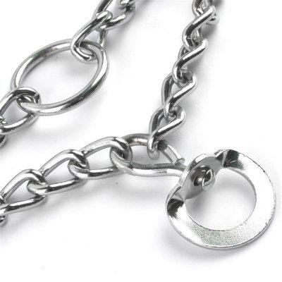 45/50/55/60cm Adjustable Dog Training Collar Chain Pet Supply Metal Steel ProngDog Carriers<br>45/50/55/60cm Adjustable Dog Training Collar Chain Pet Supply Metal Steel Prong<br><br>Material: Metal<br>Package Contents: 1 x Pet chain<br>Package size (L x W x H): 8.00 x 5.00 x 3.00 cm / 3.15 x 1.97 x 1.18 inches<br>Package weight: 0.1100 kg