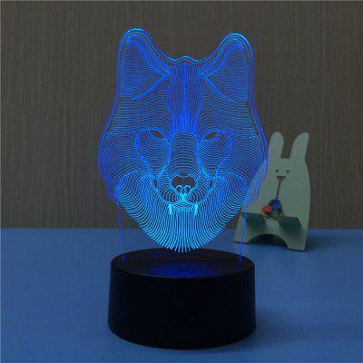 3D Wolf Night Light Plug LED Stereo Bedroom Bedside LampNovelty lighting<br>3D Wolf Night Light Plug LED Stereo Bedroom Bedside Lamp<br><br>Available Light Color: Red,Blue,Purple<br>Material: Acrylic, ABS<br>Package Contents: 1 x Acrylic Plate,1 x ABS Base,1 x Switch Button Plug Line<br>Package size (L x W x H): 22.50 x 14.50 x 5.50 cm / 8.86 x 5.71 x 2.17 inches<br>Package weight: 0.3750 kg<br>Product size (L x W x H): 11.60 x 10.00 x 20.10 cm / 4.57 x 3.94 x 7.91 inches<br>Product weight: 0.3000 kg<br>Suitable for: Night Light, Home, Home Decoration