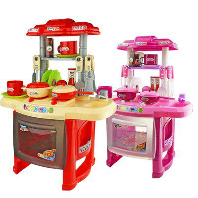 Children Play House Cooking Kitchen Table Tool Toys Cutlery GiftsPretend Play<br>Children Play House Cooking Kitchen Table Tool Toys Cutlery Gifts<br><br>Age: 3 Years+<br>Applicable gender: Unisex<br>Battery Type: 2 x 1.5V AA battery(not included)<br>Design Style: Kitchenware<br>Features: DIY<br>Gender: Unisex<br>Material: ABS<br>Package Contents: 1 x Set of Toys<br>Package size (L x W x H): 25.50 x 15.50 x 39.00 cm / 10.04 x 6.1 x 15.35 inches<br>Package weight: 1.6000 kg<br>Puzzle Style: Common<br>Small Parts: Yes<br>Type: Kitchen Toys<br>Washing: Yes