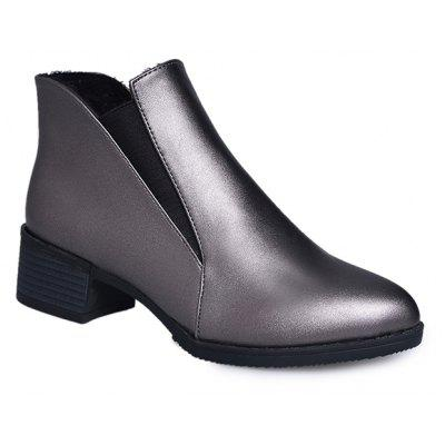 2018 New Style Solid Color Sharp Toe Short Tube Rubber Sole Chelsea Boots