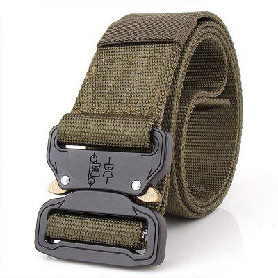 Aluminum Alloy Buckle Belt Men's Belt Nylon Training Waistband