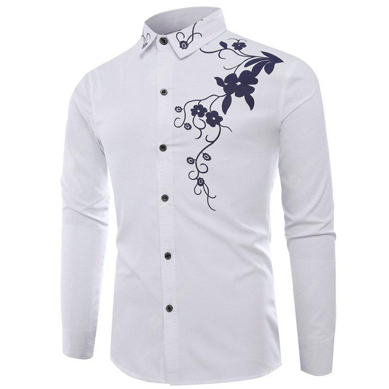 Leisure All-Match China Wind Pattern Shirt