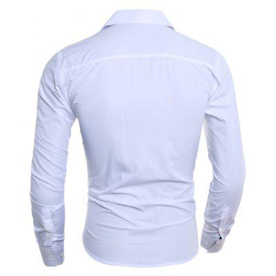 Simple Business and Leisure Long Sleeved ShirtMens Shirts<br>Simple Business and Leisure Long Sleeved Shirt<br><br>Collar: Turn-down Collar<br>Material: Cotton, Polyester<br>Package Contents: 1 xShirt<br>Shirts Type: Casual Shirts<br>Sleeve Length: Full<br>Weight: 0.2500kg