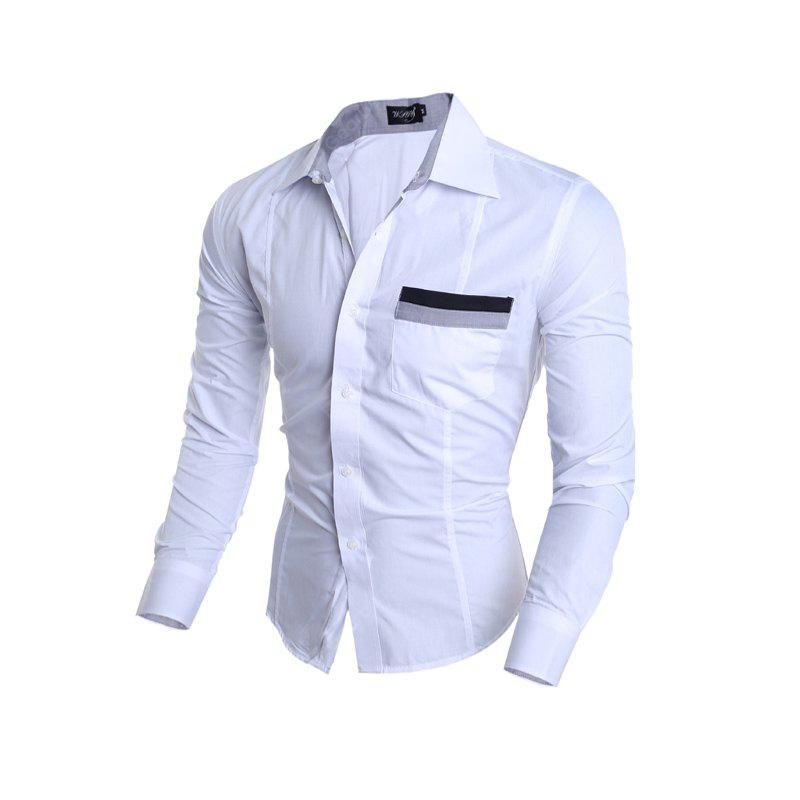 Simple Business and Leisure Long Sleeved Shirt