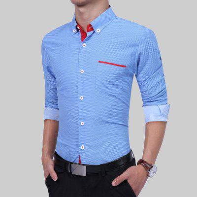 Round Point Leisure Fashion Dress ShirtMens Shirts<br>Round Point Leisure Fashion Dress Shirt<br><br>Collar: Turn-down Collar<br>Material: Cotton, Polyester<br>Package Contents: 1 xShirt<br>Shirts Type: Casual Shirts<br>Sleeve Length: Full<br>Weight: 0.2500kg