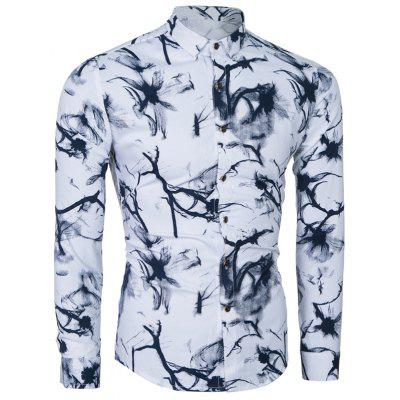 Popular Youth All-Match Slim Printing ShirtMens Shirts<br>Popular Youth All-Match Slim Printing Shirt<br><br>Collar: Turn-down Collar<br>Material: Cotton, Polyester<br>Package Contents: 1 x Shirt<br>Shirts Type: Casual Shirts<br>Sleeve Length: Full<br>Weight: 0.2500kg