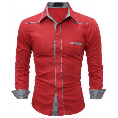 English Splicing and Leisure Fitting Shirt