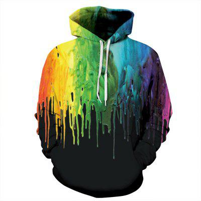 3D Digital Printing Ink Leisure Hoodie