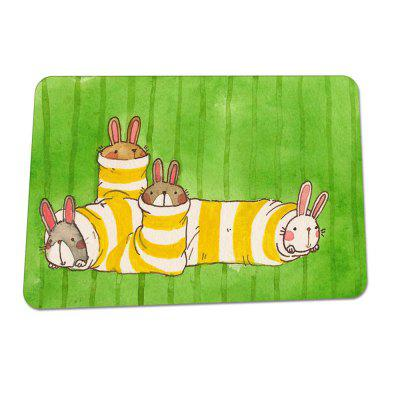 Cute Cartoon Rubber Absorbent Non-Slip MatOther Bathroom Accessories<br>Cute Cartoon Rubber Absorbent Non-Slip Mat<br><br>Feature: Water absorption?non-slip,  not card door<br>Package Contents: 1 x Carpet<br>Package Quantity: 1<br>Package size (L x W x H): 30.00 x 40.00 x 5.00 cm / 11.81 x 15.75 x 1.97 inches<br>Package weight: 0.3800 kg<br>Product size (L x W x H): 60.00 x 40.00 x 0.30 cm / 23.62 x 15.75 x 0.12 inches<br>Product weight: 0.3700 kg