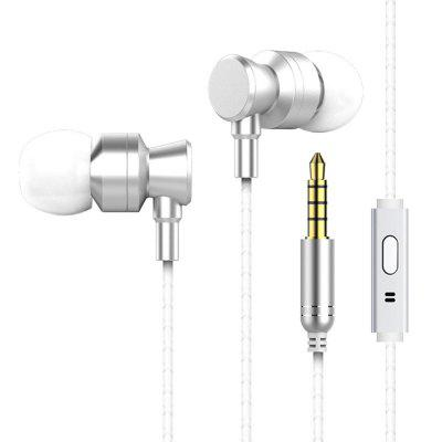 In-Ear Earbuds with Metal Housing Heavy Deep Bass For iPhone Samsung Xiaomi