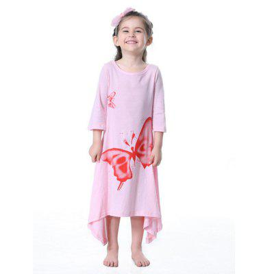 Girls Big Butterfly Trumpet SkirtGirls dresses<br>Girls Big Butterfly Trumpet Skirt<br><br>Dresses Length: Mid-Calf<br>Material: Cotton<br>Package Contents: 1 x Dress<br>Pattern Type: Others<br>Silhouette: A-Line<br>Sleeve Length: 3/4 Length Sleeves<br>Style: Casual<br>Weight: 0.1500kg<br>With Belt: No