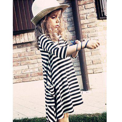 New Black and White Striped Parent-Child Dress ysdx 398 fashion stainless steel self stirring mug black silver 2 x aaa
