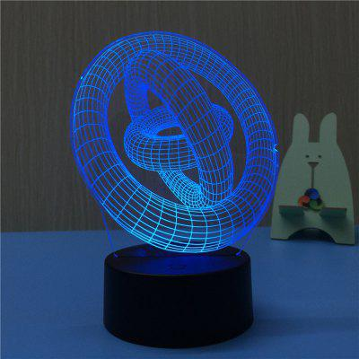3D Third Ring Road Night Light Plug LED Stereo Bedroom Bedside Lamp3D Lamps<br>3D Third Ring Road Night Light Plug LED Stereo Bedroom Bedside Lamp<br><br>Battery Quantity: NO<br>Color Temperature or Wavelength: 620-630nm,440-480nm,380-420nm<br>Connector Type: EU plug<br>Features: Decorative, Color-changing<br>Light Source Color: Red,Blue,Purple<br>Light Type: LED,Night Light,Indoor Light,LED Night Light,Decoration Light<br>Mini Voltage: 85 - 265V<br>Package Contents: 1 x Acrylic Plate, 1 x ABS Base, 1 x Switch Button Plug Line<br>Package size (L x W x H): 22.50 x 14.50 x 5.50 cm / 8.86 x 5.71 x 2.17 inches<br>Package weight: 0.3750 kg<br>Plug Type: EU plug<br>Power Source: AC<br>Product size (L x W x H): 14.50 x 10.00 x 20.00 cm / 5.71 x 3.94 x 7.87 inches<br>Product weight: 0.3000 kg<br>Quantity: 1<br>Style: Cartoon, Vintage, Artistic Style<br>Wattage: 4W