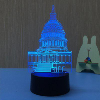 3D The White House Night Light Plug LED Stereo Bedroom Bedside Lamp3D Lamps<br>3D The White House Night Light Plug LED Stereo Bedroom Bedside Lamp<br><br>Battery Quantity: NO<br>Color Temperature or Wavelength: 620-630nm,440-480nm,380-420nm<br>Connector Type: EU plug<br>Features: Color-changing, Decorative<br>Light Source Color: Red,Blue,Purple<br>Light Type: LED,Night Light,Indoor Light,LED Night Light,Decoration Light<br>Mini Voltage: 85 - 265V<br>Package Contents: 1 x Acrylic Plate, 1 x ABS Base, 1 x Switch Button Plug Line<br>Package size (L x W x H): 22.50 x 14.50 x 5.50 cm / 8.86 x 5.71 x 2.17 inches<br>Package weight: 0.3750 kg<br>Power Source: AC<br>Product size (L x W x H): 11.50 x 10.00 x 22.20 cm / 4.53 x 3.94 x 8.74 inches<br>Product weight: 0.3000 kg<br>Quantity: 1<br>Style: Artistic Style, Comtemporary, Cartoon, Vintage<br>Wattage: 4W