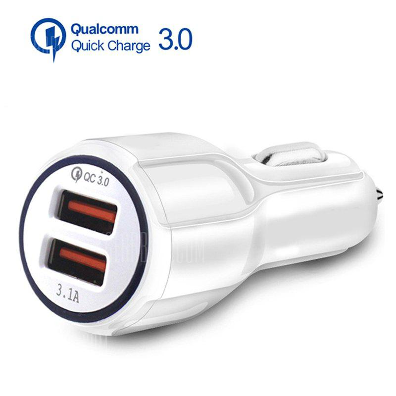Gearbest 3.1A Dual USB Car Charger Quick Charge QC 3.0 Car Charger