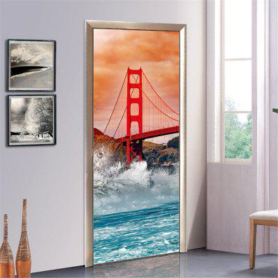 ZB53 Golden Gate Bridge Amazon Modern Architecture Creative Decorative Painting Bedroom Entrance Door Sticker  2 pcsWall Stickers<br>ZB53 Golden Gate Bridge Amazon Modern Architecture Creative Decorative Painting Bedroom Entrance Door Sticker  2 pcs<br><br>Art Style: Plane Wall Stickers, Toilet Stickers<br>Color Scheme: Multicolor<br>Effect Size (L x W): 200 x 77 cm<br>Function: Decorative Wall Sticker, Toilet Sticker<br>Layout Size (L x W): 200 x 77 cm<br>Material: Paper, Vinyl(PVC)<br>Package Contents: 1 x Set of Door Stickers<br>Package size (L x W x H): 42.00 x 3.40 x 3.40 cm / 16.54 x 1.34 x 1.34 inches<br>Package weight: 0.5500 kg<br>Quantity: 1 Set<br>Sizes: Others<br>Subjects: Fashion,Flower,Famous,Architecture,3D,History<br>Suitable Space: Living Room,Bedroom,Office,Cafes,Kids Room,Corridor,Kids Room,Study Room / Office<br>Type: 3D Wall Sticker, Plane Wall Sticker