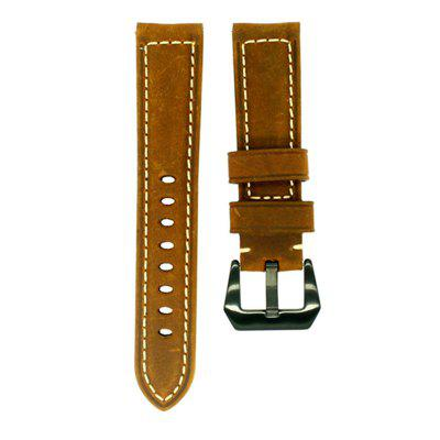 22MM Retro Vintage Leather Strap Replacement for Pebble Time / Pebble Time Steel